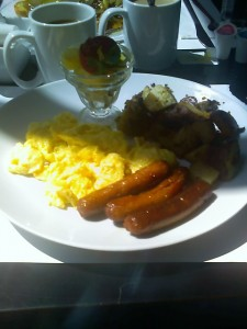 Eggs and Sausage  with side of Potatoes