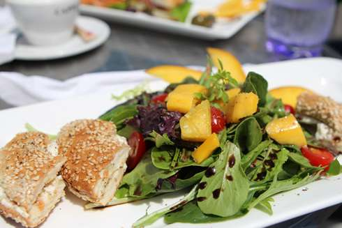 stellina jean talon market brunch bagels and salad