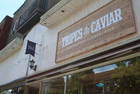 tripes and caviar montreal brunch exterior